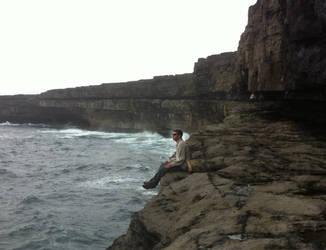 Sitting on the Ocean by Tengu101
