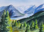 Mountain landscape by GunterAngriff
