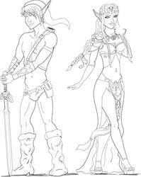 Link And Zelda by MrFlameboy15