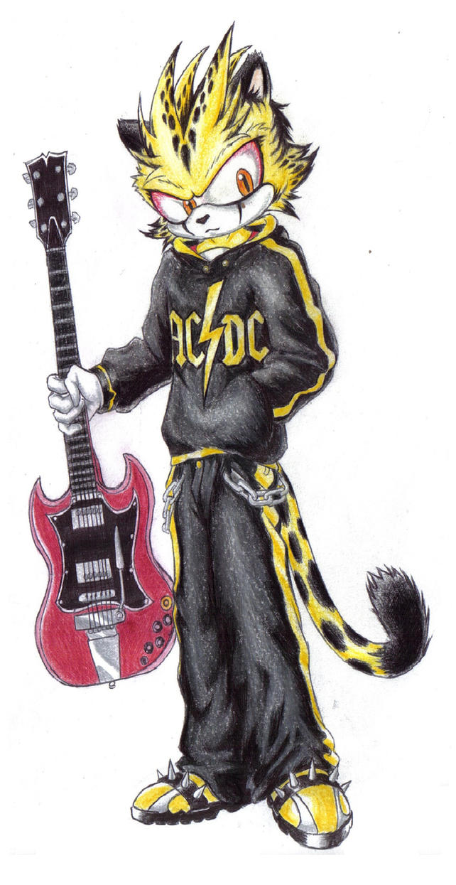 Dash rock with the Angus Young guitar lml by Zero-White-tiger