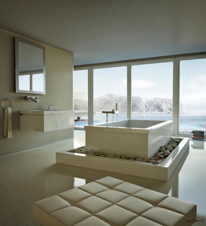 Bath by 3d brainx on deviantart for 3d bathroom drawing