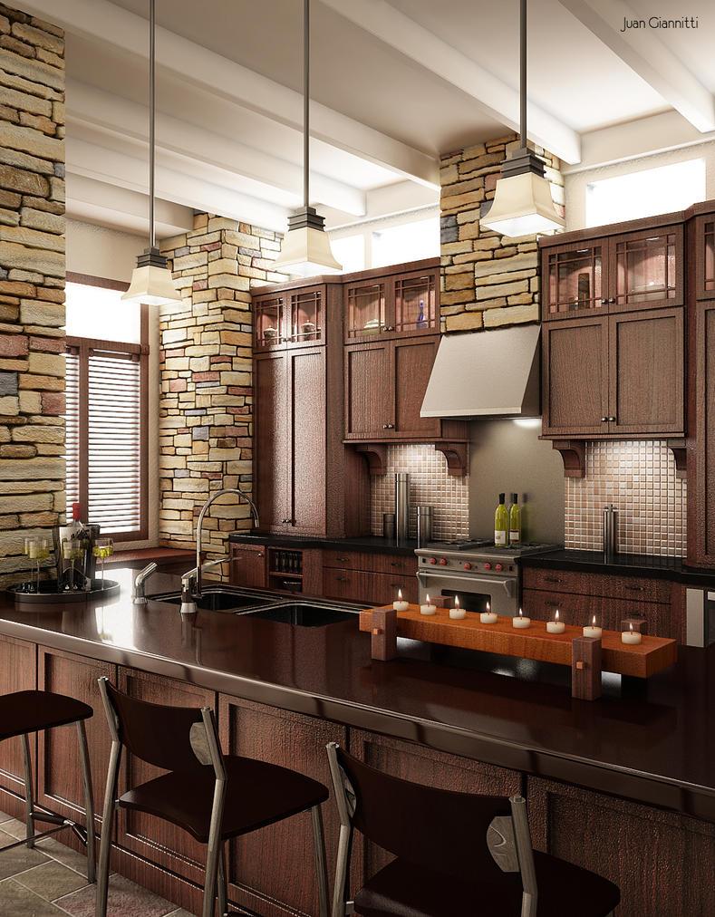 Kitchen by 3D-Brainx