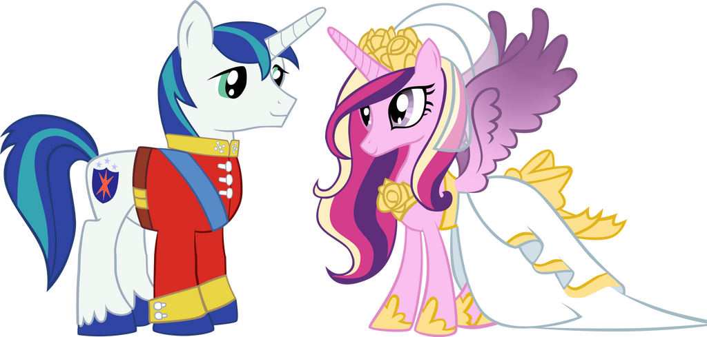 Cadence and Shining Armor by zelc-face