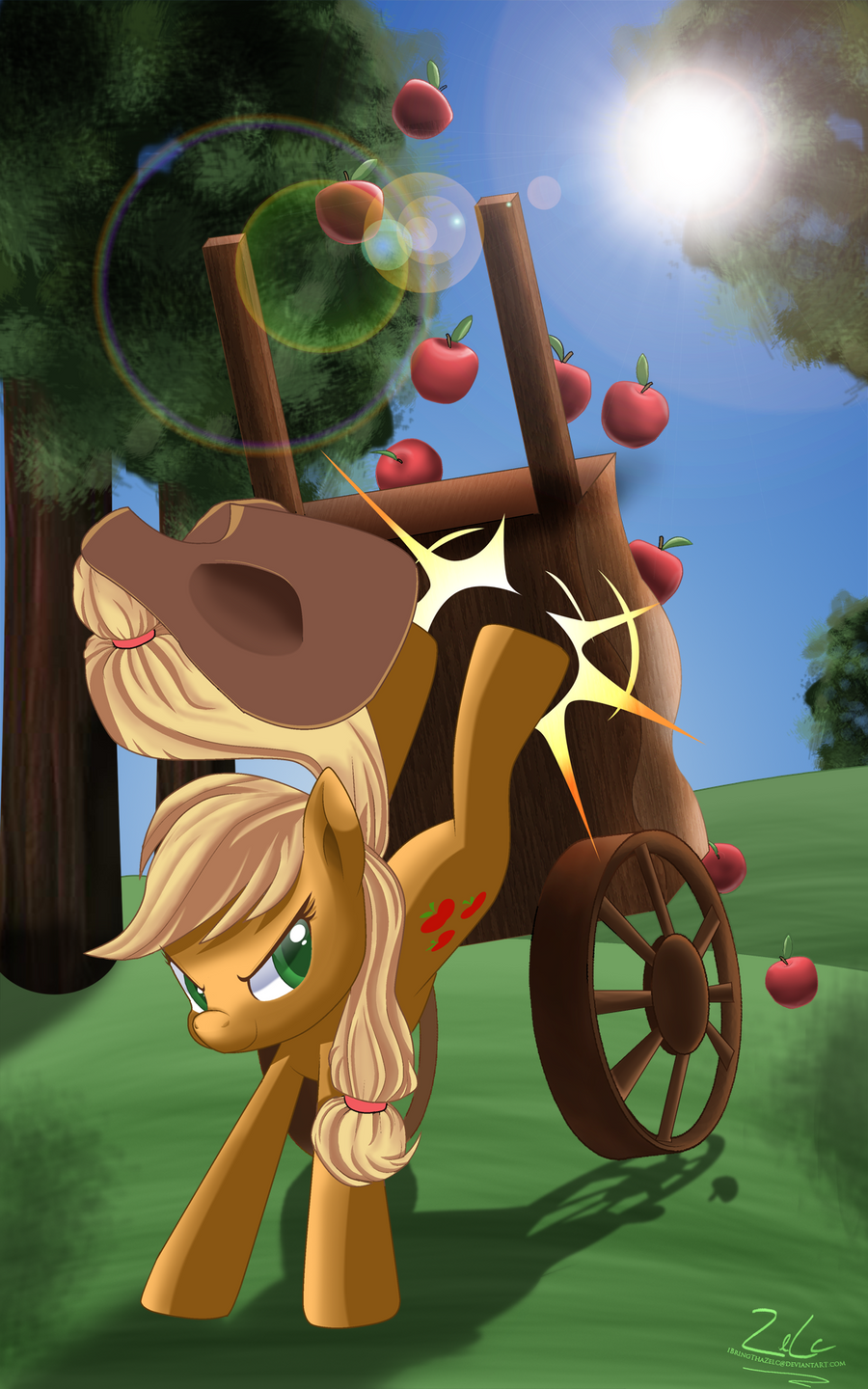Extreme Apple Harvest by zelc-face