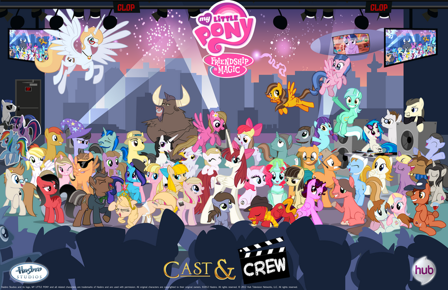 Cast and Crew Poster - Finished by zelc-face