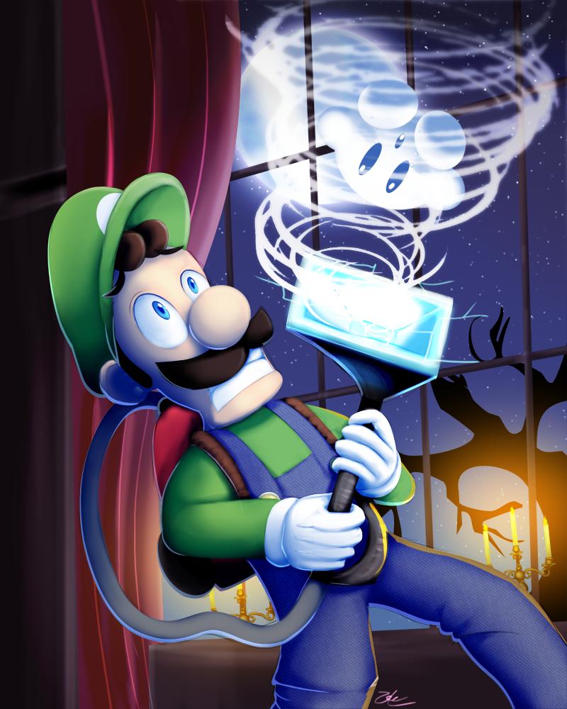 SSB - Luigi by zelc-face