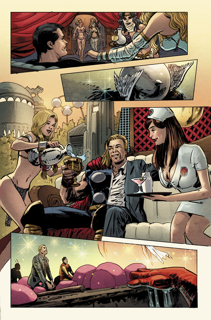 Avengers vs. Atlas no. 2. by dismang