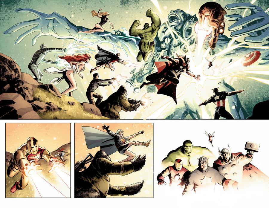 Avengers vs. Atlas no. 4 by dismang