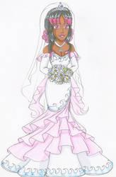 Comm- Nashira's wedding dress by Azure-wolf96