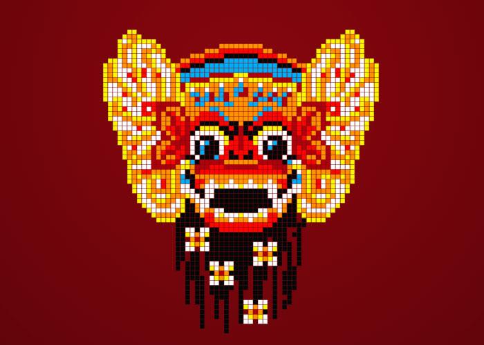 pixel barong bali by gantibaju on deviantart pixel barong bali by gantibaju on