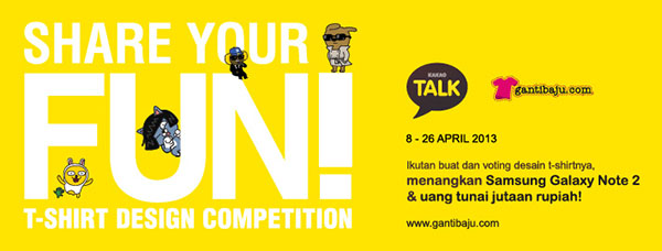 Share Your Fun bersama Gantibaju.com dan KakaoTalk by gantibaju