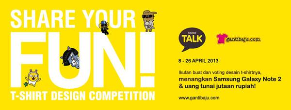 Share Your Fun bersama Gantibaju.com dan KakaoTalk by gantibaju