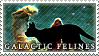 Galactic Felines - Stamp by Ehlinn