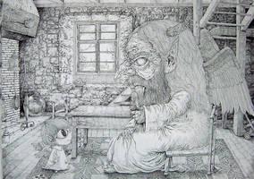 Grandfather and grandchild by Cielrune