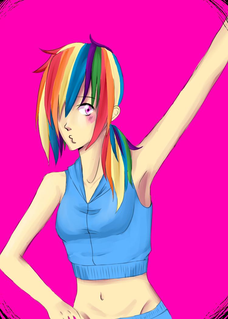 -Rainbow Dash- by TsukiPrincess