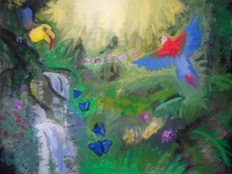 Amazon-rainforest-painting