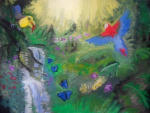 Amazon-rainforest-painting