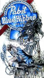 PBR zombie beer girl by Jay-Allen-Hansen
