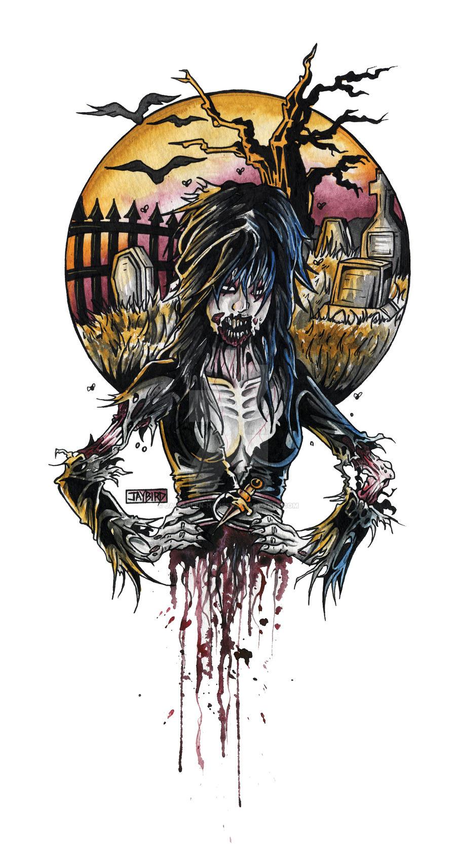 Zombie Elvira by Jay-Allen-Hansen