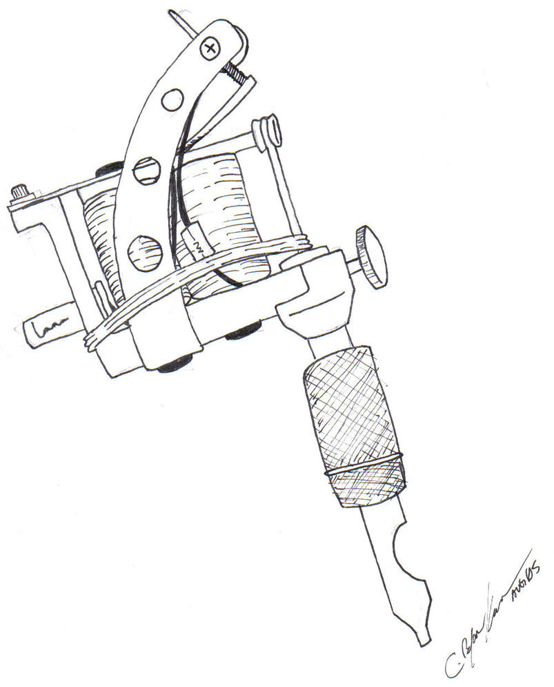 New Line Art Design : Tattoo machine by loneuglyfish on deviantart