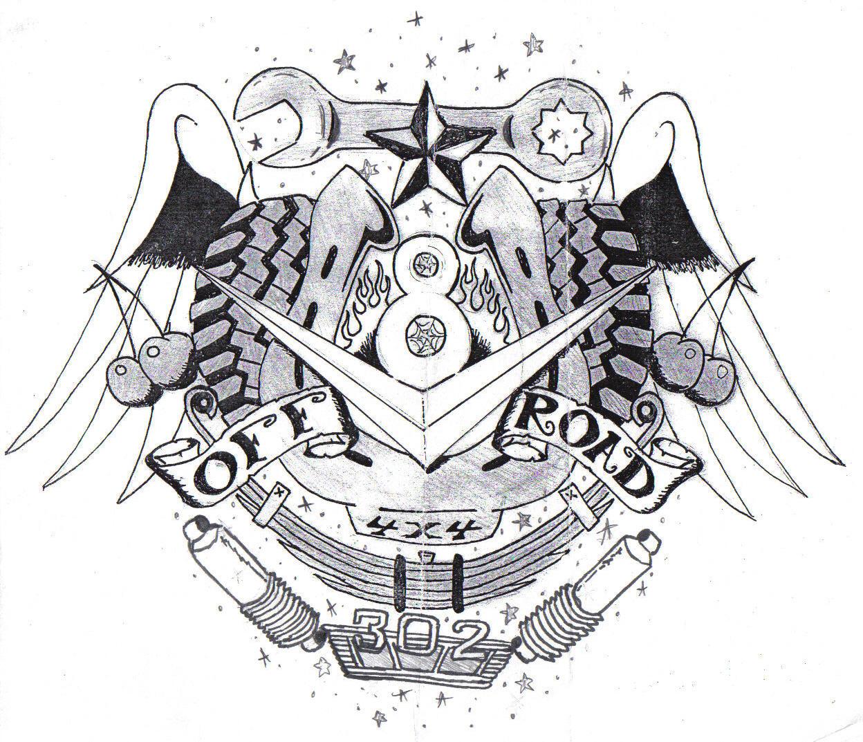 bronco tattoo by loneuglyfish on deviantart. Black Bedroom Furniture Sets. Home Design Ideas