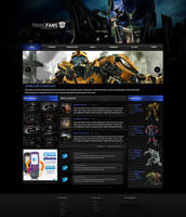 Transformers Webpage by KustomzGraphics