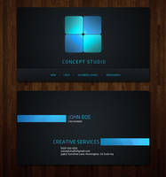 Business Card Template by KustomzGraphics