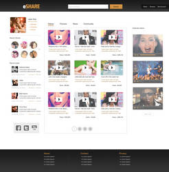 Social sharing webpage by KustomzGraphics