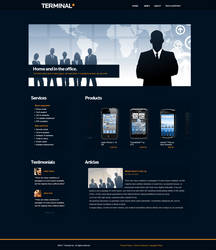 Terminal Web template by KustomzGraphics