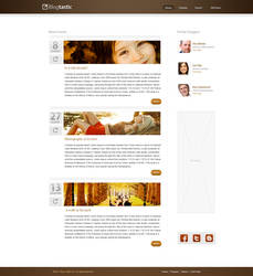 Blog Page by KustomzGraphics
