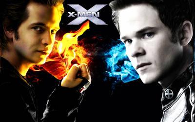 X-MEN - PYRO VS ICEMAN