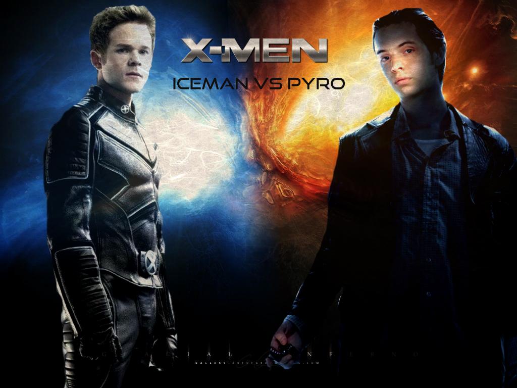 X Men Iceman Vs Pyro X-MEN - PYRO VS ICEMAN...