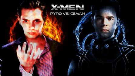 X-MEN - PYRO VS ICEMAN 04