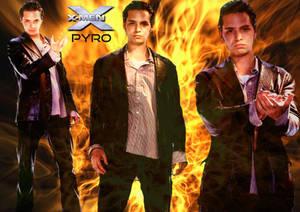 X-MEN - JOHN ALLERDYCE/PYRO WALLPAPER 02