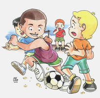 Soccer - Child Style by the8headed