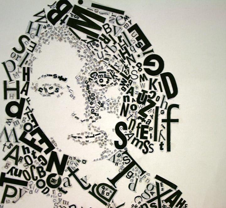 Text Self-Portrait by extraordinarymachine