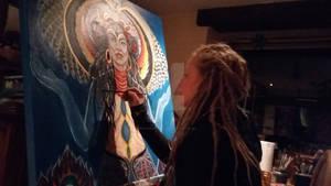 Kali Goddess-painting process