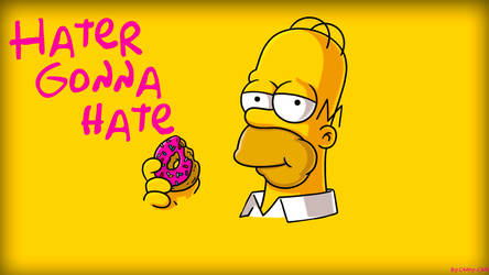 Homer Simpson Hater Gonna Hate Wallpaper by Candy-C4n3
