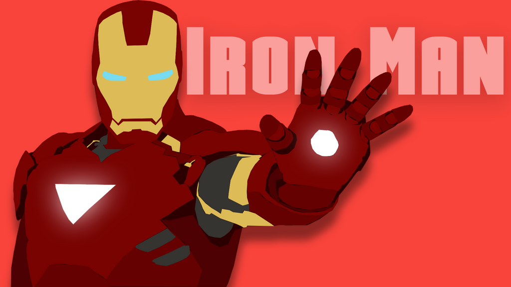 Iron Man Flat Wallpaper By Candy C4n3