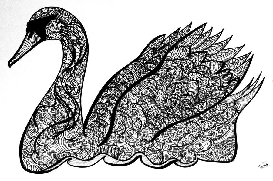 Swan by okbrightstar