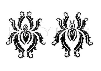 Abstract Spider Tattoos by zencentricity
