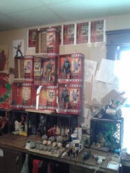 Wall of small soldiers