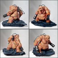 Doom Mancubus sculpture