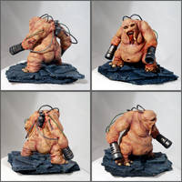 Doom Mancubus sculpture by DrMonkeyface
