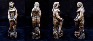 Norse goddess Freyja Sculpture by DrMonkeyface