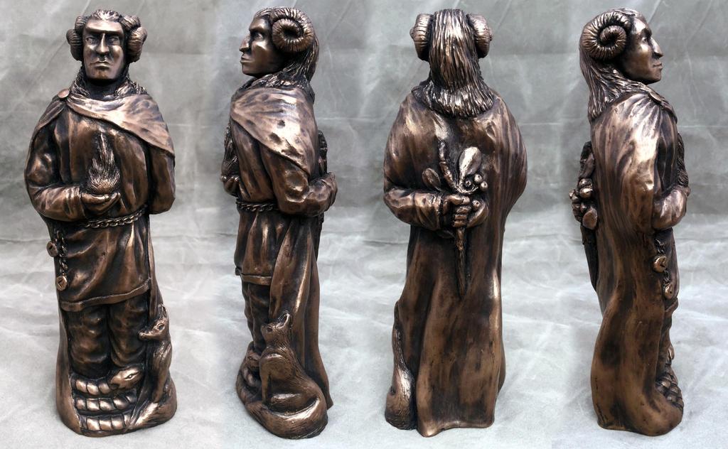 Norse god Loki in Bronze