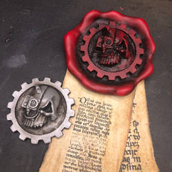 Adeptus Mechanicus purity seal and badge