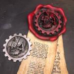 Adeptus Mechanicus purity seal and badge