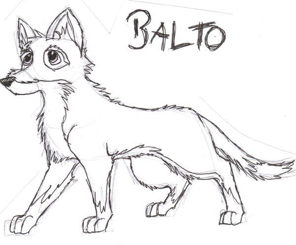 Images of Balto Howling Coloring Pages - #SpaceHero
