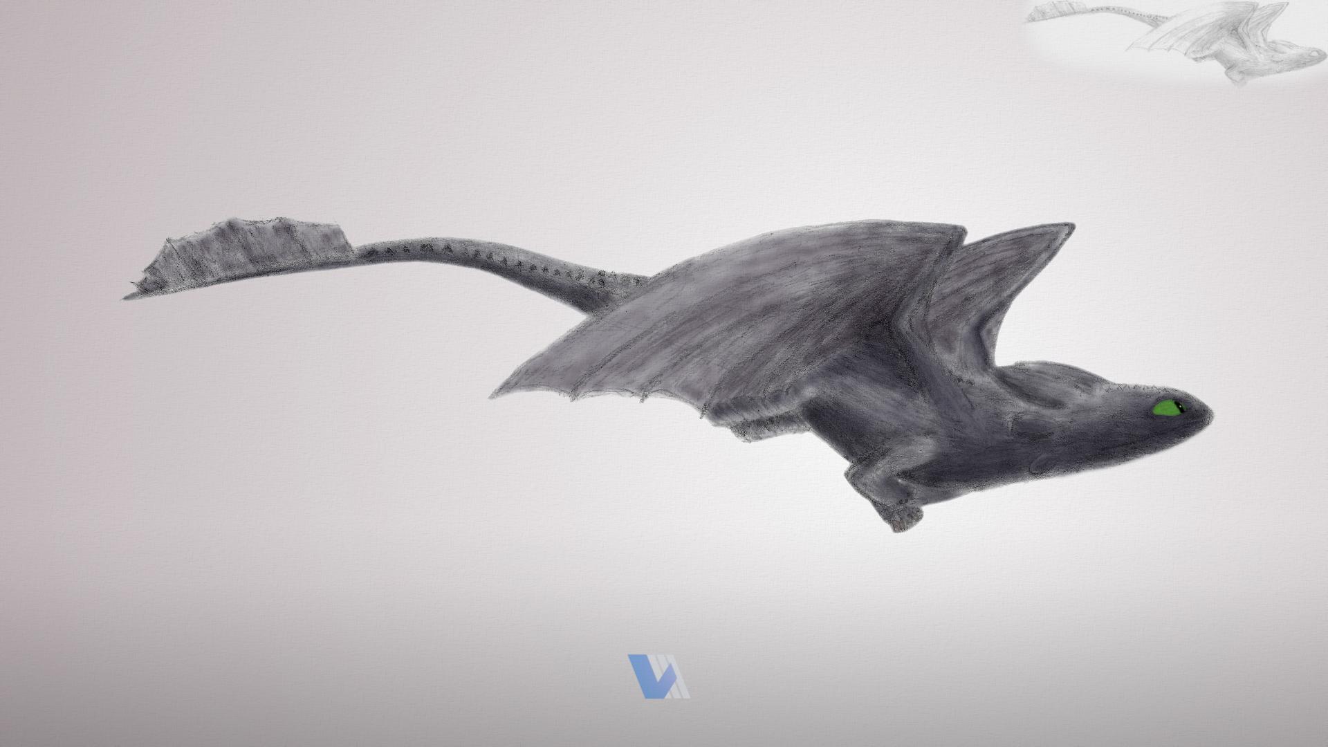 Night Fury - Flight by V3DT on DeviantArt